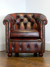 A Range of Home or Commercial leather Tub chairs, deep buttoned or plain options