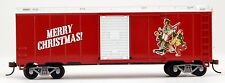 Bachmann HO Scale Train Norman Rockwell Christmas Red Box Car