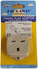 Far & Away Double Earthed Continental EU European Travel Adaptor Plug - FREE P&P