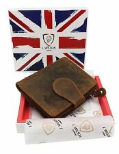 RFID SAFE Real Distressed Leather Designer Ladies Wallet Contactless Card