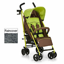 NEW HAUCK FOREST BROWN / GREEN SPEED PLUS PUSHCHAIR BABY STROLLER & RAIN COVER