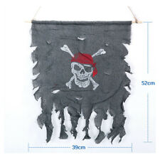 Halloween PIRATE FLAG 52x39cm Skull and Crossbones Jolly Roger Party Bar Terror