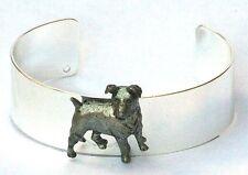 Jack russell bracelet bracelet plaque argent et étain chasse coffret cadeau NOUVEAU