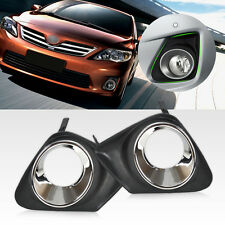 New For 2011-13 Toyota Corolla Chrome Front Bumper Fog Light Cover Grille Grill