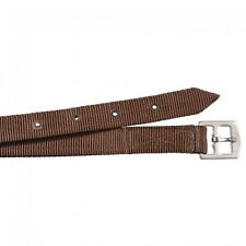 Equiroyal Brown Nylon Stirrup Leathers English tack equine 24-9841