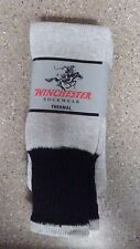 3 PAIRS OF NEW WINCHESTER MENS THERMAL BOOT SOCKS-SIZE 10-13 Grey & Black
