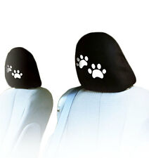 NEW DESIGN PAIR CAR TRUCK PAWS LOGO SEAT HEADREST COVERS ACCESSORIES