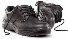 NEW SITE COAL BLACK LEATHER SAFETY SHOES SIZE 12 / EU 46 - S1P SRC BARGAIN