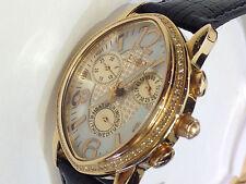 LADY JOE RODEO JOJO CHRONOGRAPH  GENUINE DIAMONDS ROSE GOLD WATCH  $1350 SPECIAL