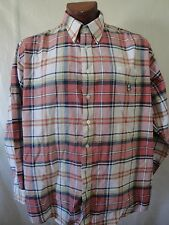 CINCH Plaid Long Sleeve Red Yellow White Button Shirt Size XL