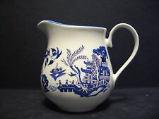 Willow Pattern English Fine Bone China Cream Jug By Milton China