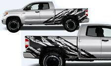 Vinyl Decal Shred Wrap Kit for Toyota Tundra TRD Extended Cab 14-16 Matte Black