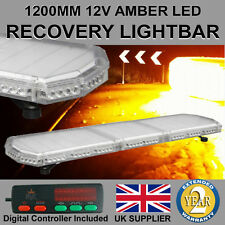 "1200mm 48"" LED Light Bar Recovery Flashing Amber Warning Beacon Strobe truck"