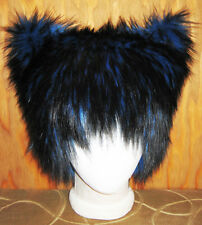 CHESHIRE KITTY CAT FUR HAT WONDERLAND ANIME COSPLAY WOLF WIG EDM EDC FESTIVAL