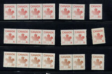 CANADA COILS SC908 (NON DENOMINATED) SC950 SC951 STRIP OF 4, PAIR AND SINGLE MNH