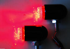 Motorcycle tail brake light turn signal red LED black custom chrome cruiser atv