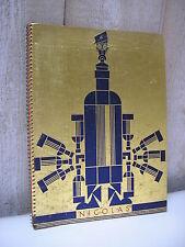 CATALOGUE des vins NICOLAS 1930 PAUL IRIBE Art déco