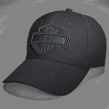 HARLEY DAVIDSON Mens Phantom B&S Logo Black Cotton Baseball Cap  hat
