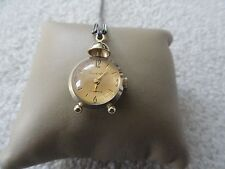 Sovereign 17 Jewels Wind Up Vintage Necklace Pendant Watch