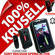 Krusell Classic Case Genuine Leather Cover +Clip for Sony Ericsson Xperia Active