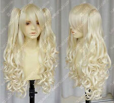 LMRA020  beautiful Long curly blonde lady's hair Wig wigs for women+2ponytails