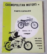 BENELLI 65cc COUGAR PARTS MANUAL / COMOPOLITAN MOTORS