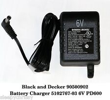NEW Genuine Black & Decker 90500902 Battery Charger 5102767-03 6V PD600 PD700G