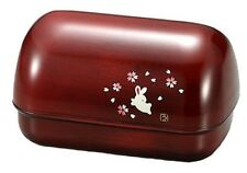 New BENTO Lunch Box Red Japanese OMUSUBI Sakura Mokume Usagi Japan