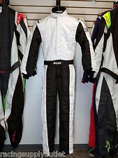 Sparco/Lico Racing Suit Black/White  Size X-Small 50    SFI and FIA Rated   New