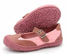 Sunway Girls UK 11 EU 29 Pink Leather Lined Mary Jane Buckle Up Brand New Shoes