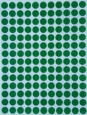 Green Round Stickers colored labels small circles 3/8 inch 10 mm map dots sheets