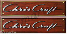Chris Craft Custom  Woodgrain Decals - 10 inch long set. Remastered