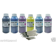 6x10oz Refill pigment ink kit for Epson 77 78 79 RX595 RX680 1400 1430 CISS