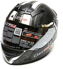 LS2 Helmets - FF352 - Evil Twin Antractite -Full Face Imported Motorcycle Helmet