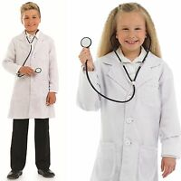 Girls Boys Kids Child's Doctor Nurse with Stethoscope Fancy Dress Costume Outfit
