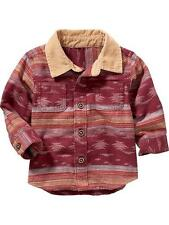 Old Navy Patterned Cord-Collar Shirt for Baby Boy Size 12-18 month NWT