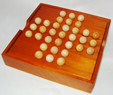 NEW SOLITAIRE GAME WITH WOODEN BOARD AND COMPARTMENT BOX ACK