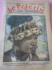 Chercheur d'or de Mélanésie Femme une fortune coquillage sur sa tete Print 1935