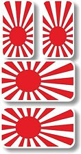 Vinyl sticker/decal Extra small 45mm & 35mm Japan rising sun flags - group of 4