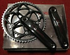 Guarnitura bici corsa FSA Carbon 53-39 175 Crankset road Bike carbonio
