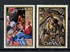 Sellos de España-Juego de 2 Navidad 1969 En Perfecto Estado