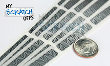"Scratch off sticker Zebra Silver Black 1/4"" x 1.375"" PIN label security-100 qty"