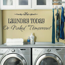 Laundry Washing Room Art Wall Quote Stickers, Wall Decals Words Lettering 43