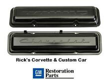 Chevrolet Script Valve Covers , PAINTED, Offically Licensed GM Restoration Parts