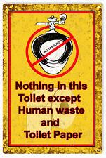 Bathroom Toilet Warning Sign