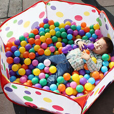 100Pcs Colorful Fun Balls + Play Tent Baby Kids Swimming Pool Pit Toy Sweet