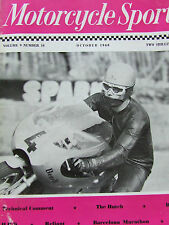 MOTORCYCLE SPORT OCT 1968 THE HUTCH BS FOUR RELIANT BARCELONA MARATHON PCV