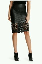 $598 MOST WANTED GUESS BY MARCIANO MEDLEY LEATHER PENCIL SKIRT SOLD OUT ♡♡♡