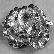 Large vintage full blown ROSE BROOCH pin by BAT-AMI of Israel silver marked 925