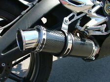 Street Triple 675 07-12 SP Engineering Carbon Fibre Stubby Big Bore 3-1 Exhaust